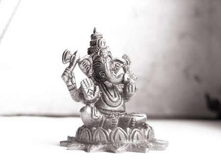 Ganesha.Hindu God of Success.Sepia toned. Stock Photo