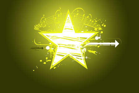 mtv: star in green background Stock Photo