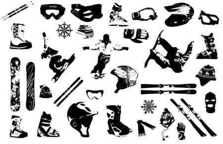 ski goggles: ski wear and stuff