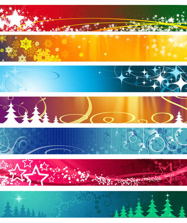 ornaments vector: christmas banner with space for text Stock Photo