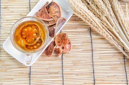lightsome: Dried bael juice quince hot drink