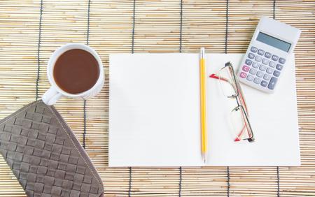office desk: office desk coffee break