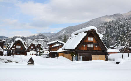 Historic Villages of Shirakawa-go is Japans.  The architectural style developed over many generations and is designed to withstand the large amounts of heavy snow that falls in the region during winter. The roofs, made without nails, provided a large att