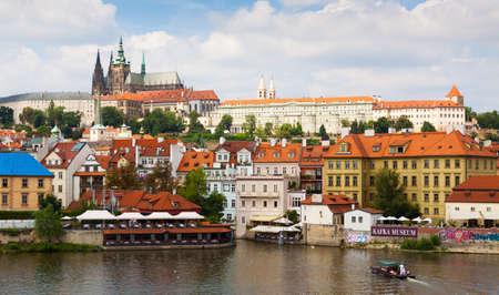 Prague. The Cathedral Of St. Vitus. River Vltava.