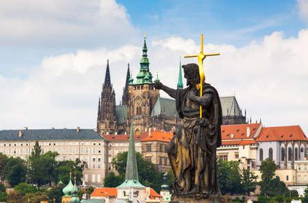 Prague. The Cathedral Of St. Vitus. Charles bridge. photo