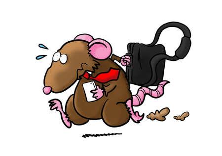 rata caricatura: Rata en la Carrera