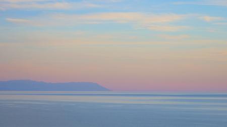 Elegant pastel colorful sky in Baikal Lake, Olkhon Island Russia. Фото со стока