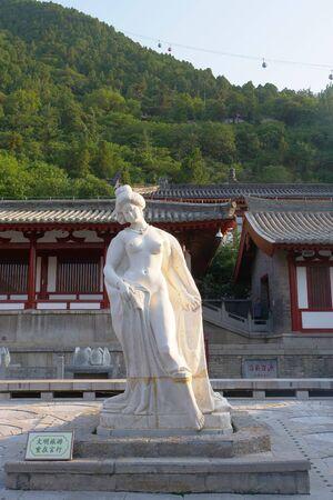 Beautiful woman statue of Yang Guifei in Tang Huaqing Palace, Xian China