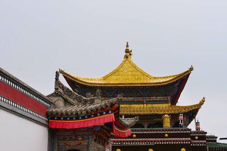 Kumbum Monastery, Taer Temple a Tibetan Buddhism Monastery in Huangzhong County, Xining Qinghai China. Stockfoto
