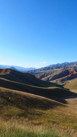 Beautiful nature of The Qilian Mountain Scenic Area in Qinghai China.