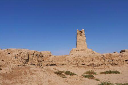 Landscape view of Gaochang Ruins inTurpan Xinjiang Province China. 写真素材
