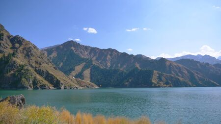 Nature landscape view Heaven Lake of Celestial Mountains in Xinjiang China.