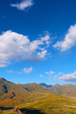 Beautiful nature  view of The Qilian Mountain Scenic Area  in Qinghai China.