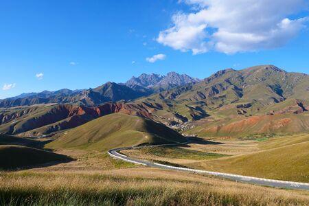 Beautiful nature  view of The Qilian Mountain Scenic Area in Qinghai China. 写真素材