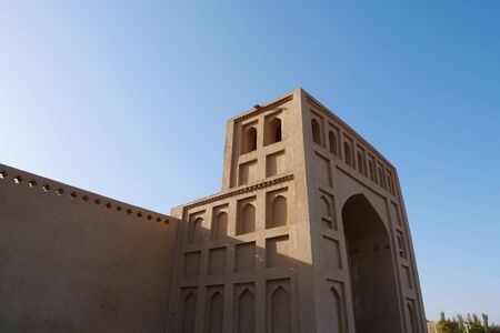 Emin minaret or Sugong tower in Turpan. the largest ancient Islamic tower in Turpan Xinjiang, China.