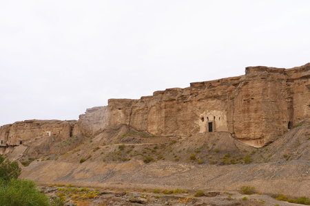Landscape view of The Yulin Cave in Dunhuang gansu China Publikacyjne
