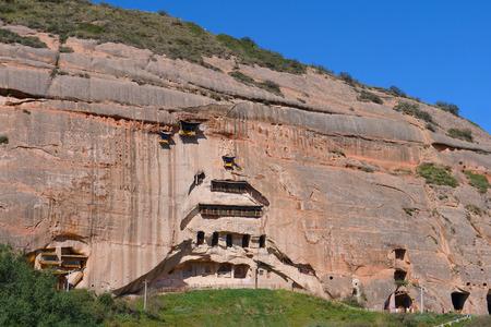 Beautiful landscape view of Mati Temple in Zhangye Gansu China. Publikacyjne