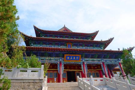 Tulou Temple of Beishan Mountain, Yongxing Temple in Xining Qinghai China. Publikacyjne