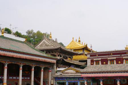 Kumbum Monastery, Taer Temple a Tibetan Buddhism Monastery in Huangzhong County, Xining Qinghai China. Redactioneel