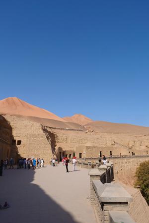 view of The Bezeklik Thousand Buddha Caves in Turpan Xinjiang Province China. Publikacyjne