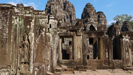 Bayon Temple in Angkor wat complex, Siem Reap Cambodia