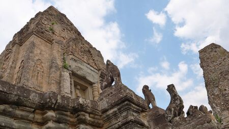 Ancient buddhist khmer temple architecture ruin of Pre Rup in Angkor Wat complex, Siem Reap Cambodia. Stock fotó
