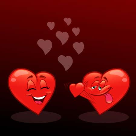 declaration of love: Declaration of love on Valentines Day