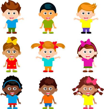 felices los niños