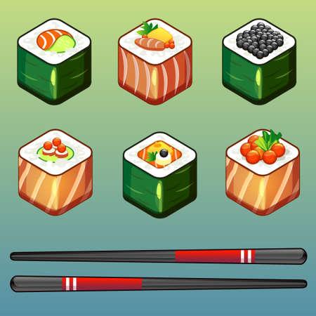 prepared fish: SUSHI icons