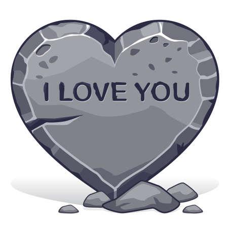 te amo: Adoqu�n en forma de coraz�n con la inscripci�n te amo