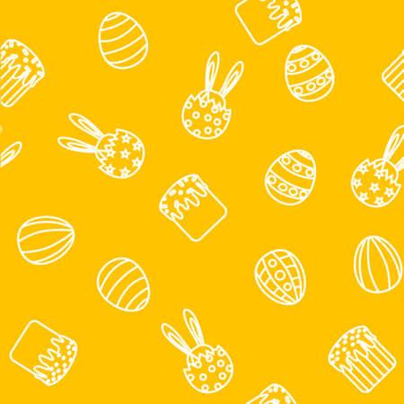 an easter cake: Easter background seamless egg, Easter cake, rabbit