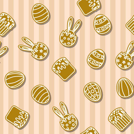 an easter cake: Easter cookies background seamless egg, Easter cake, rabbit