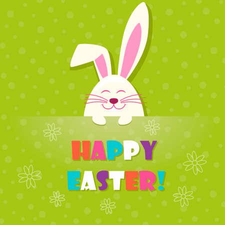ester: cute rabbit in Ester light green background Illustration