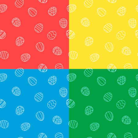 egg shaped: Easter eggs background seamless in vector