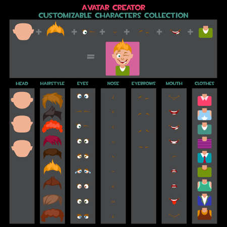 customizable: Customizable Characters avatars Collection