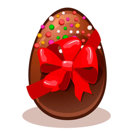 chocolate egg: Happy Easter gift- chocolate egg in vector Illustration