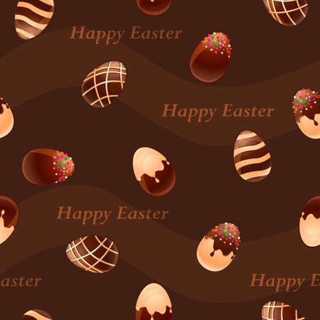 ferrous: Happy Easter- Ferrous and White Chocolate eggs seamless pattern