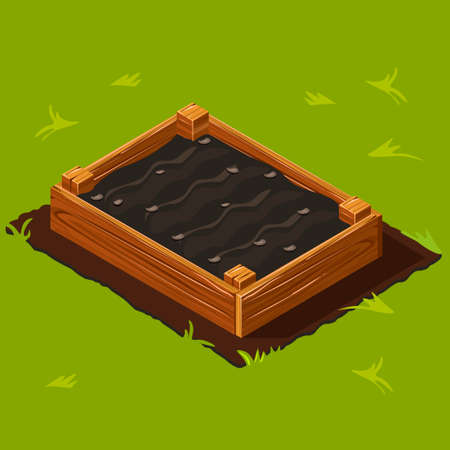 Gemüsegarten Box auf Gras