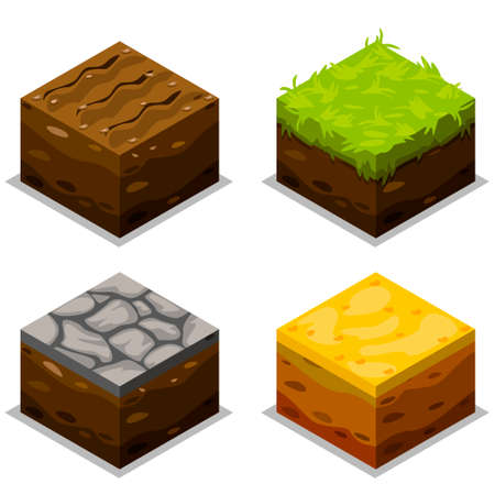 Isometric Elements For Landscape Design, game element
