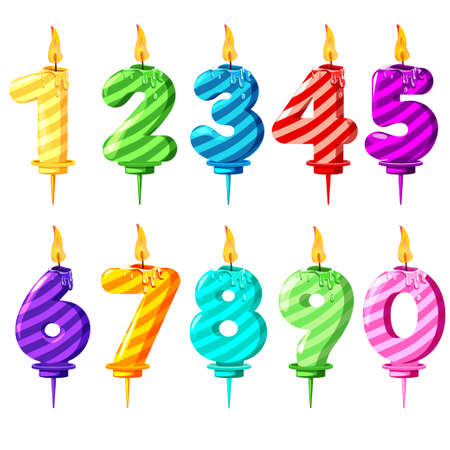 multi Colored Numbered Birthday Candles