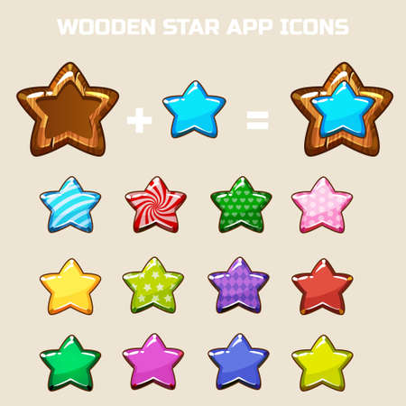 own: elements for making your own star icon, constructor in vector