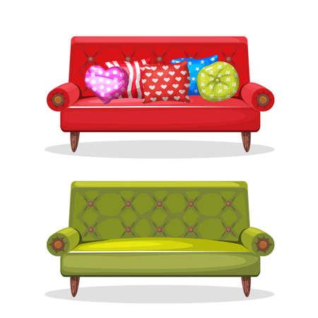 #60021513   Sofa Weichen Bunten Hausgemachte, Set 8 In Vektor