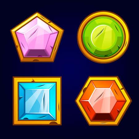 Old precious and multi-colored stones