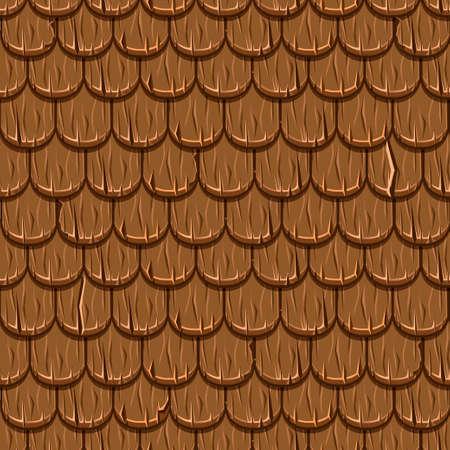 Vieux toiture en bois brun de toiture de bande dessinée sans soudure de fond, texture de collection