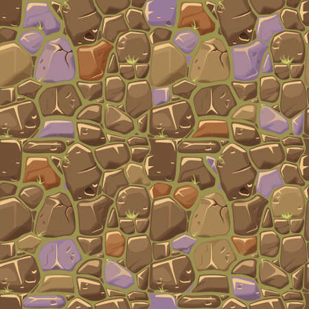 Stone texture in colors seamless background. Vector illustration