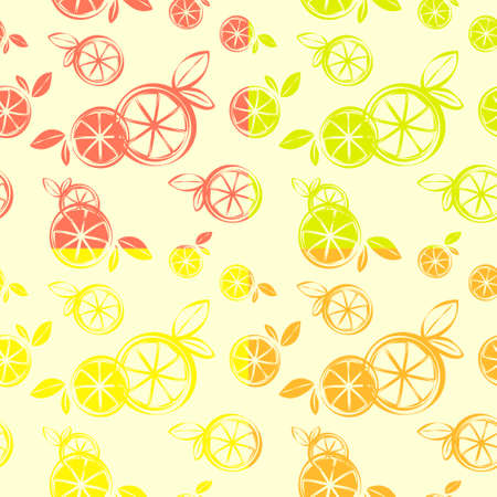 Four Wallpaper Citrus Seamless Pattern, Print Textile Gift paper