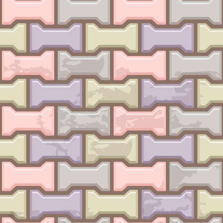色付きコンクリート H 形舗装スラブ表面。シームレスなテクスチャ  イラスト・ベクター素材