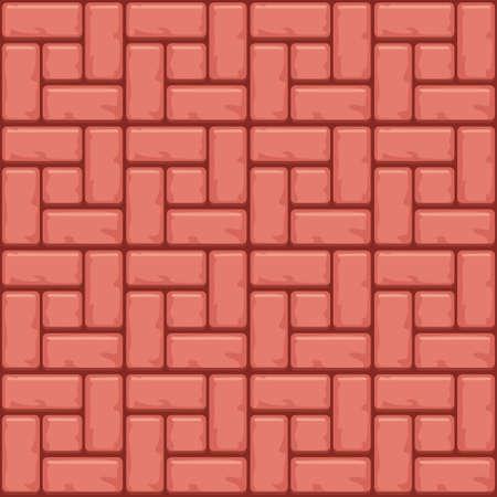 赤コンクリート舗装スラブ表面。シームレス テクスチャのベクトルの背景 写真素材 - 81732567