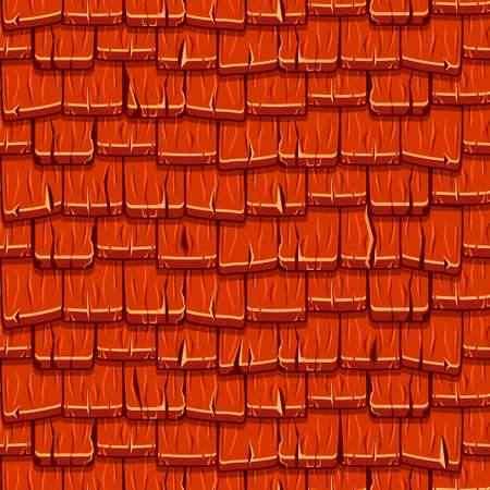 Naadloze oude rode houten dakpannen Stockfoto - 81804846