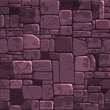 Purple brick wall pattern design. Illustration